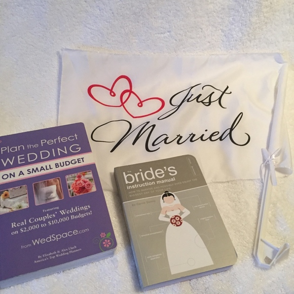 dacfd0d748ac Party Supplies | Wedding Books And Just Married Flag | Poshmark